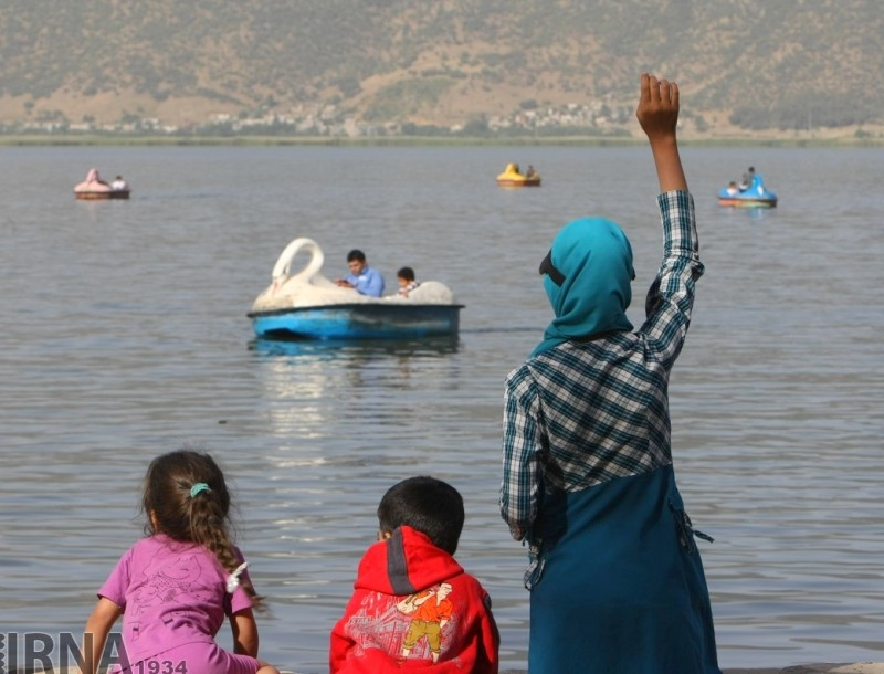 Озеро Зеривар в провинции Курдистан (Иран)