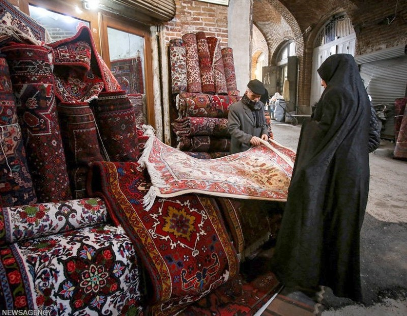 Ковровый базар в Тебризе, Иран