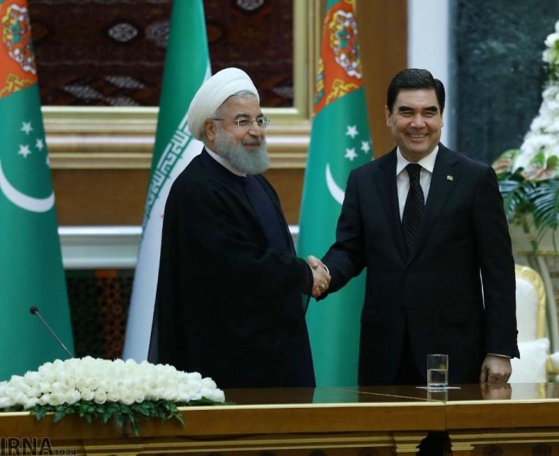 Встреча президента Ирана Хасана Рухани с президентом Туркмении Гурбангулы Бердымухаммедовым