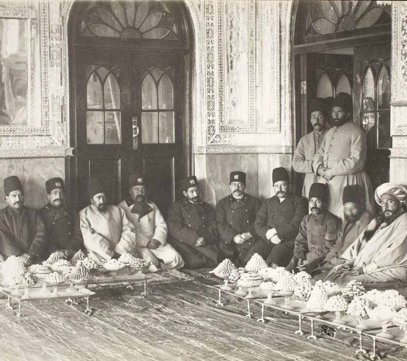 Праздничная церемония при дворе персидских шахов Каджаров, Иран