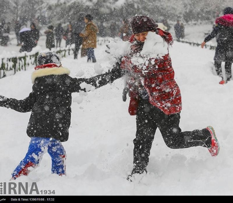 иран тегеран снег снегопад снежки