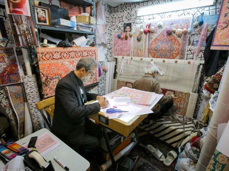 Ковровая мастерская в Тебризе, Иран