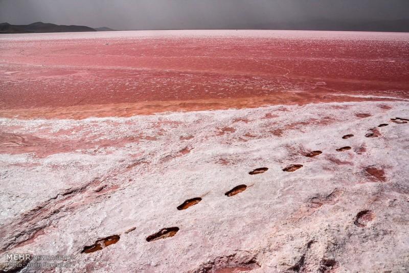 Розовое озеро» в провинции Фарс