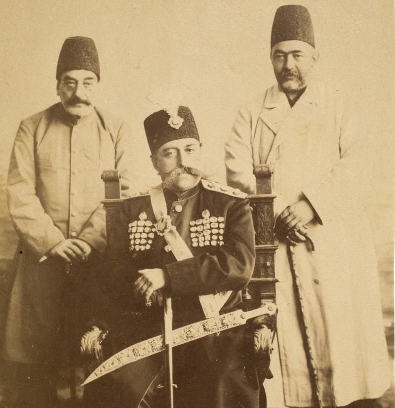 Мозафереддин-шах Каджар со своими министрами, Иран