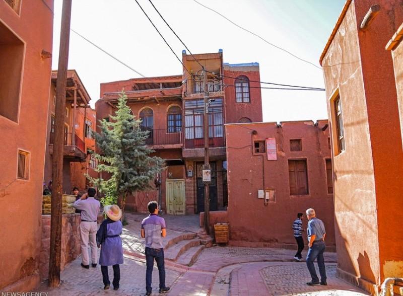 Деревня Абьяне в Иране