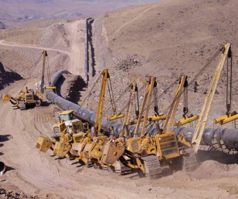 Строительство газопровода в Иране