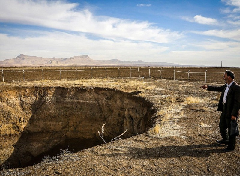 иран хамадан почва провалы