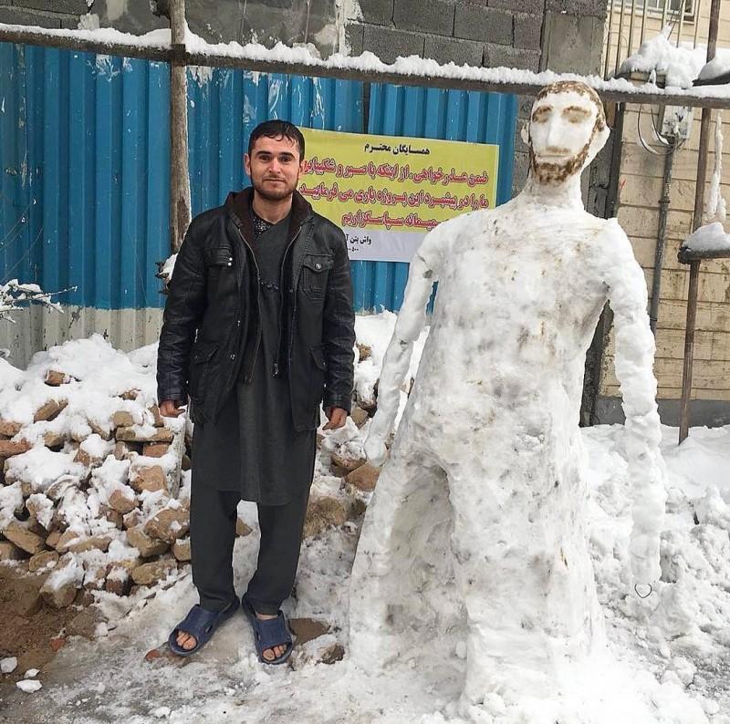 иран тегеран снег снеговик снегопад