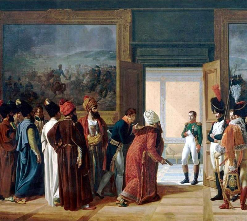 Встреча персидского посланника Мирзы Казвини и Наполеона I в замке Финкенштейн (1807)