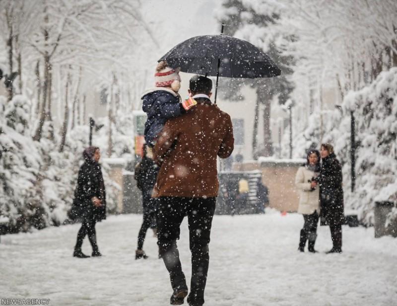 иран тегеран зима снег снегопад