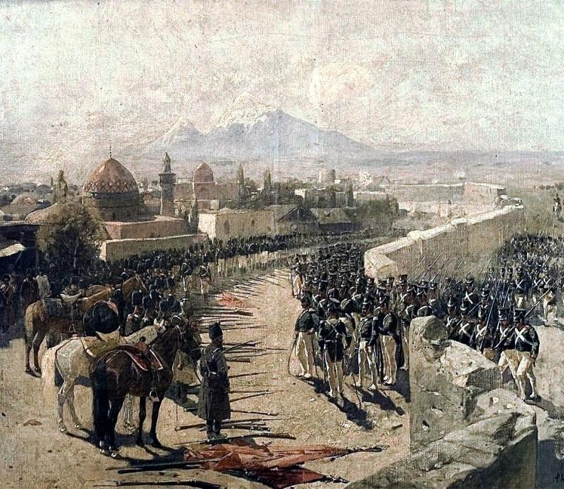 Франц Рубо «Взятие русскими войсками Эриванской крепости» (1893)
